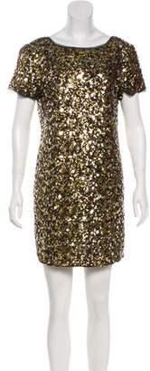 Tibi Silk Sequin Mini Dress