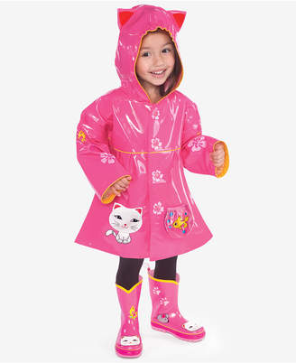 Kidorable Lucky Cat Raincoat, Toddler Girls