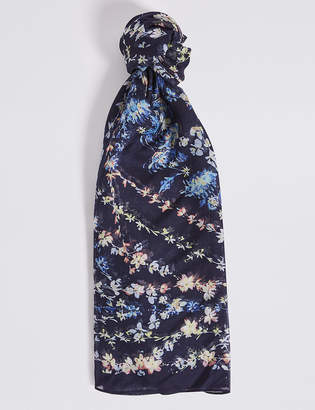 M&S Collection Scatter Floral Print Scarf