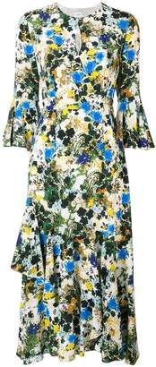 Erdem flared all-over print dress