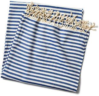 Turkish T Beach Candy Stripe Blanket - Blue
