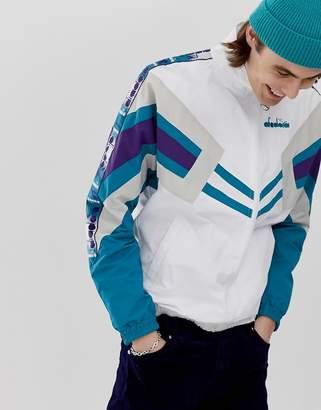 Diadora retro track jacket mvb in white