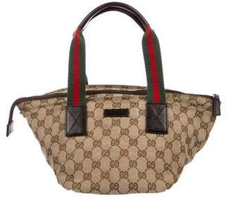 Gucci Small GG Canvas Web Tote