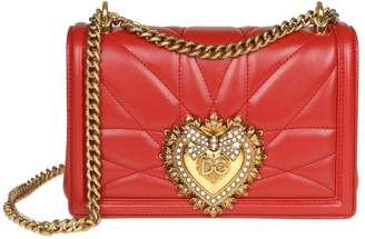 10fec101cdb8 Dolce   Gabbana Medium Devotion Bag In Nappa Matelasse Color Red