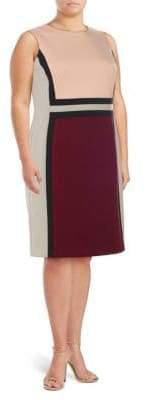 Calvin Klein Plus Colorblocked Sheath Dress