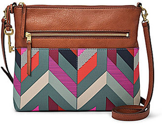 Fossil Fiona Chevron Large Cross-Body Bag $98 thestylecure.com