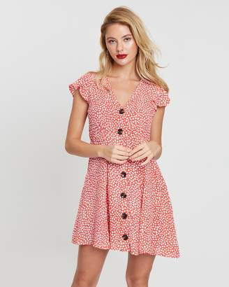 MinkPink Sunset Button-Front Dress