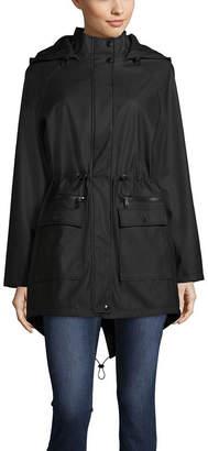 SEBBY Sebby Vinyl Hooded Water Repellant Lightweight Raincoat