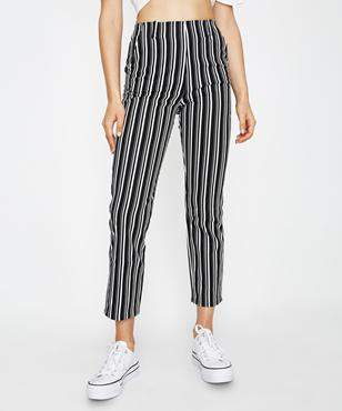 Subtitled Sandy Stripe Cropped Pant Assorted