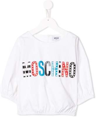 Moschino Kids TEEN logo patch blouse