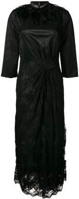 Christian Pellizzari lace panel midi dress