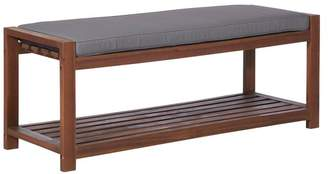 Walker Edison 48 Patio Wood Bench with Cushion