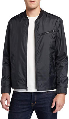 John Varvatos Men's Zip-Up Aviator Jacket