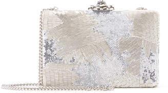 Oscar de la Renta Rogan Beaded Minaudiere Clutch Bag