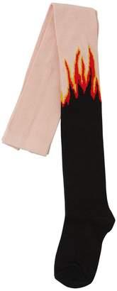 Stella McCartney Flames Intarsia Cotton Knit Tights
