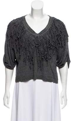 Nicholas K Fringe-Accented Knit Top