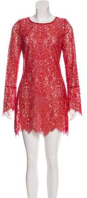 For Love & Lemons Lace Sheer Dress