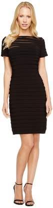 Adrianna Papell Partial Tuck Dress w/ Short Sleeve Women's Dress