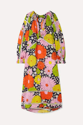 Dodo Bar Or Myra Floral-print Cotton-voile Maxi Dress - Yellow