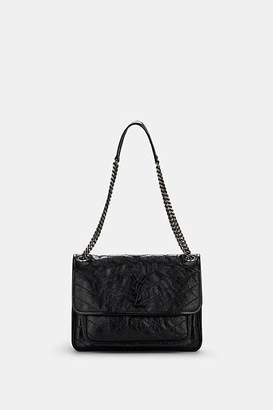 Saint Laurent Women's Monogram Niki Medium Leather Shoulder Bag - Noir