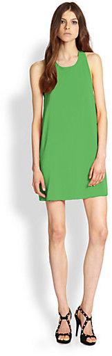Alice + Olivia Marion Stretch Silk Twist Dress