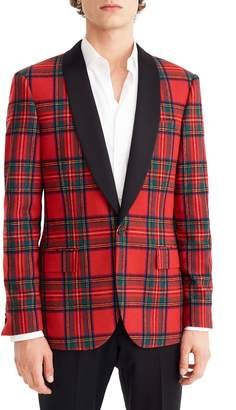 J.Crew Ludlow Slim Fit Tartan Wool Blend Dinner Jacket