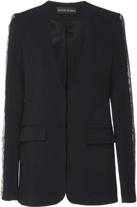 David Koma Sequin Sleeve Blazer