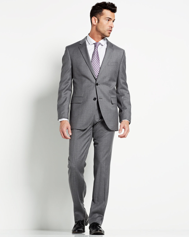 HUGO BOSS Heather The Grand Central Suit, Medium Grey