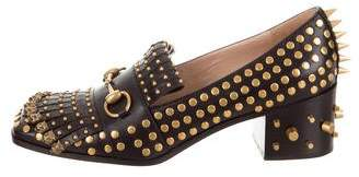 Gucci 2017 Polly Studded Loafers