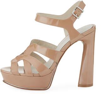 Kenneth Cole Nealie Patent Chunky Platform Sandals