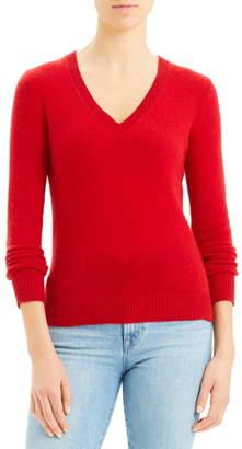Theory V-Neck Long Sleeve Cashmere Sweater