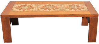 One Kings Lane Vintage Midcentury Walnut Tile-Top Coffee Table - Something Vintage