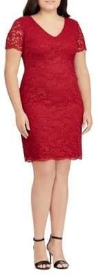 Lauren Ralph Lauren Plus Scalloped Lace Dress