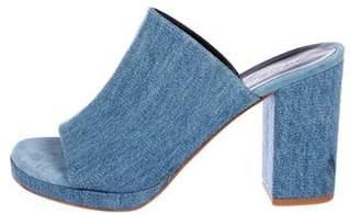 Roger Vivier Denim Slide Sandals