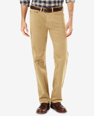 Dockers Men Dobby Straight Fit Soft Stretch Pants