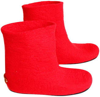 "Felt Forma Handmade Felt Boots ""Red Passion"""