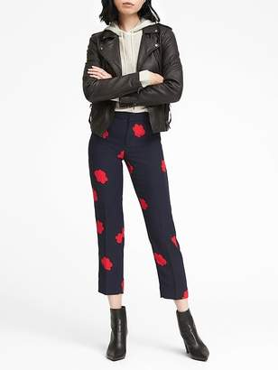 Banana Republic Petite Avery Straight-Fit Floral Ankle Pant