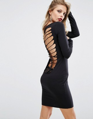 ASOS HALLOWEEN Skeleton Cut Out Back Mini Dress $41 thestylecure.com