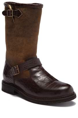 Australia Luxe Collective Tank Crocodile Embossed Leather Genuine Shearling Lined Boot