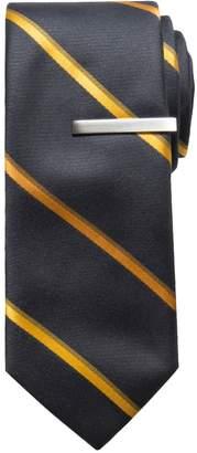Apt. 9 Men's Patterned Skinny Tie with Tie Bar