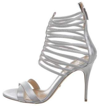 Jerome C. Rousseau Metallic Sacli Cage Sandals