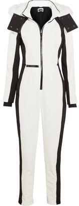 Topshop Sno - Starman Faux Fur-trimmed Hooded Ski Jumpsuit - White $320 thestylecure.com
