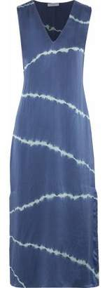Equipment Connery Tie-Dyed Washed-Silk Midi Dress
