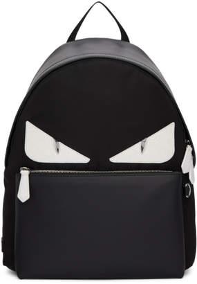 Fendi Black Croco Bag Bugs Backpack