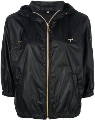 Fay cropped hooded jacket