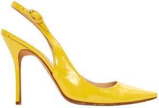 Manolo Blahnik Yellow Patent leather Heels