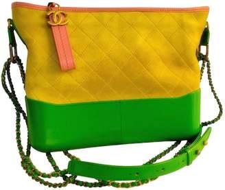 Chanel Gabrielle Yellow Leather Handbag