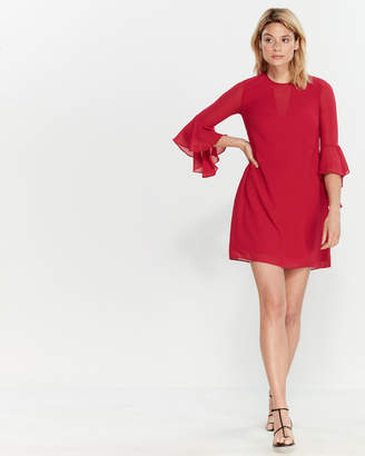 Vince Camuto Berry Bell Sleeve Shift Dress