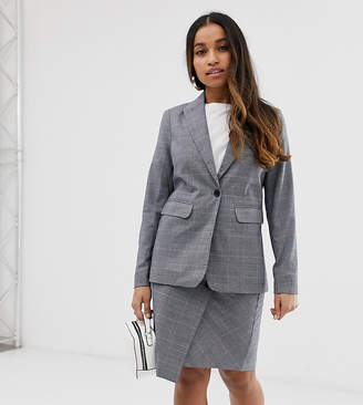 Y.A.S Petite Thesis check co-ord blazer