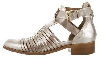 House Of Harlow Leather Oxford Sandals